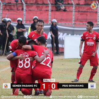 Semen Padang Putus Rekor Buruk di Liga 1 2019
