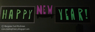 Glow in the New Year 2016 neon wall decor