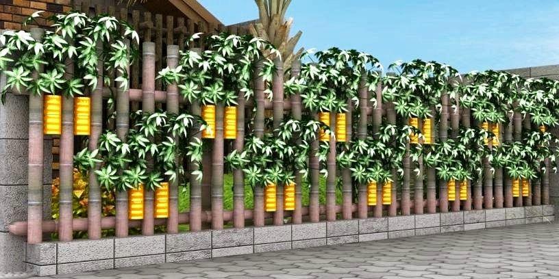 Model Pagar Bambu Unik Untuk Rumah