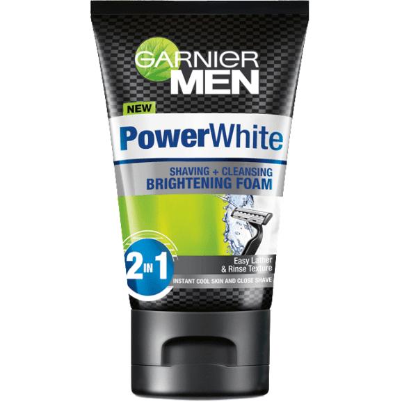 Pencuci muka lelaki garnier powerwhite brightening foam