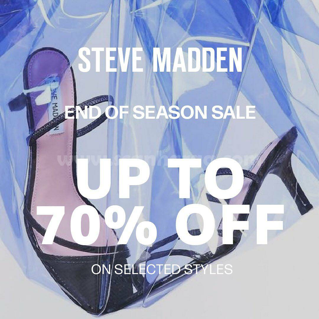 Promo STEVE MADDEN END OF SEASON SALE! Up To 70% On Selected Styles