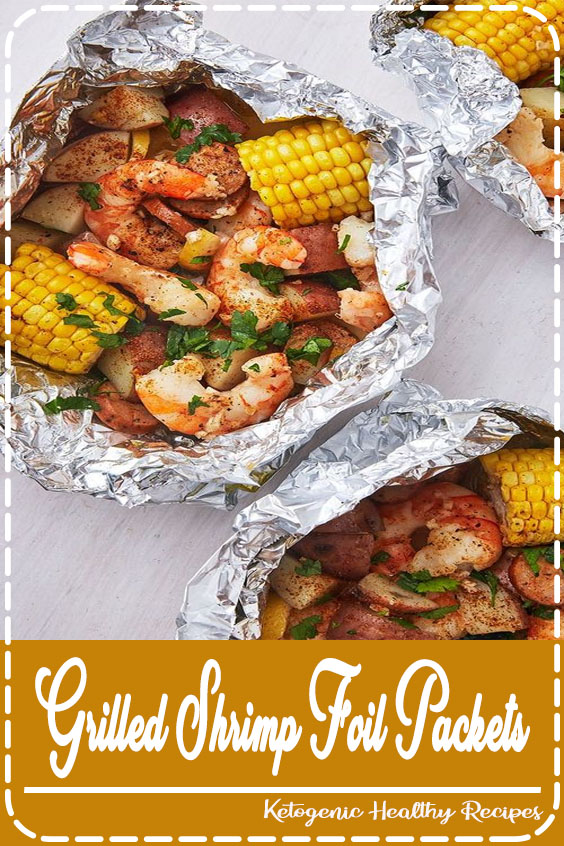 Try these easy & delicious Grilled Shrimp Foil Packets