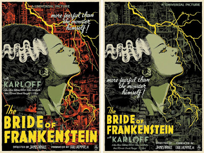 Universal Monsters The Bride of Frankenstein Screen Print by Francesco Francavilla x Mondo