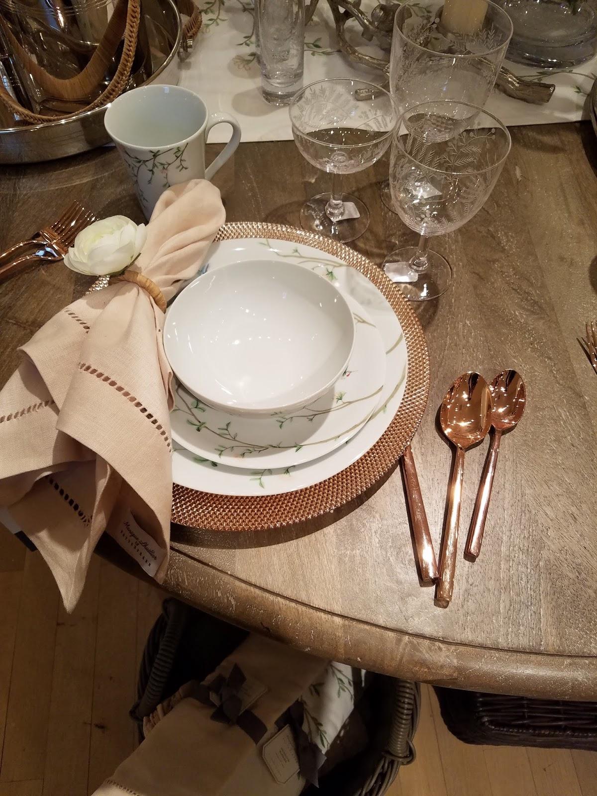 Very pretty dinnerware & A Home for Elegance: Dinnerware at Pottery Barn