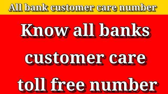 bank-customer-care-number