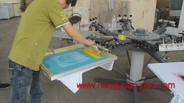 T Shirt 8 Color Silk Screen Printing Machine