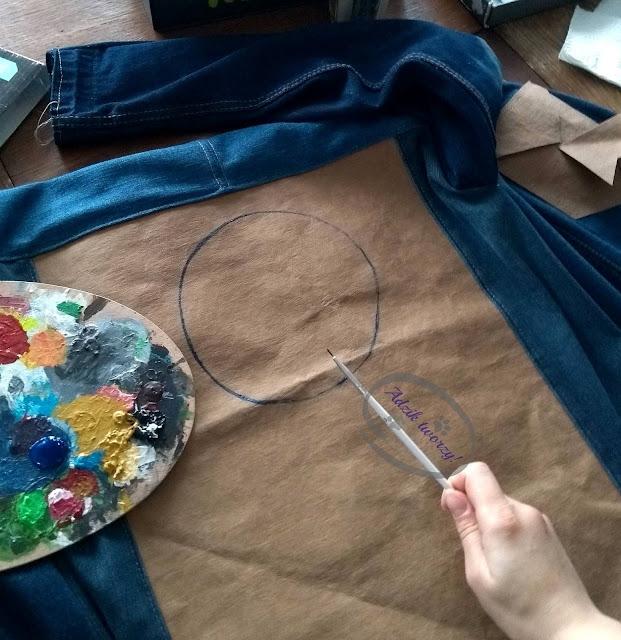 Adzik tworzy - jak namalować łapacz snów DIY na tkaninie