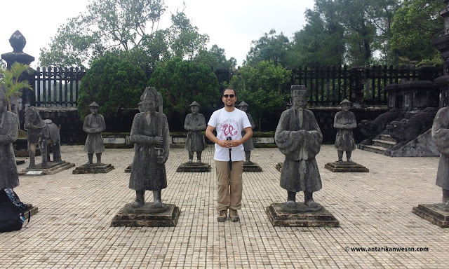 Posing with the Sepoys, Tomb of Khai Dinh, Hue, Vietnam