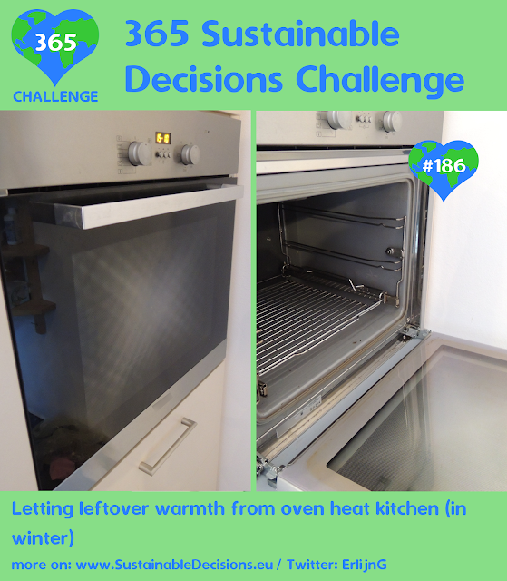 Letting leftover warmth from over heat kitchen (in winter) saving energy