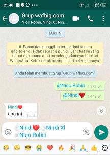 cara tag nama di wa atau whatsapp