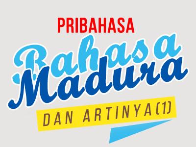Pribahasa Bahasa Madura Dan Artinya 1