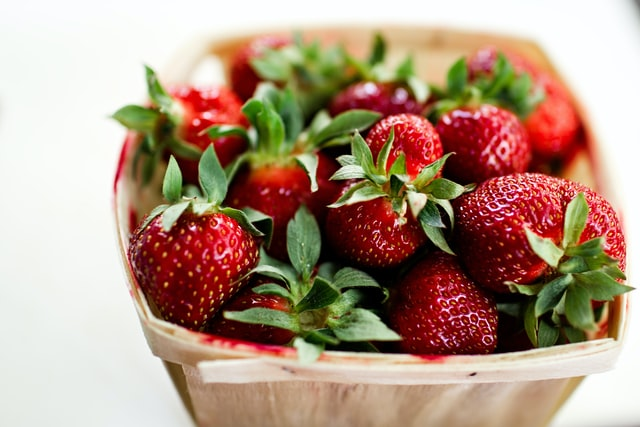 Bowl filled with strawberries