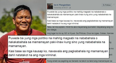 Ira Panganiban Shares The True Views Of An Ordinary Filipino On Duterte's War Against Drugs. Must Read!