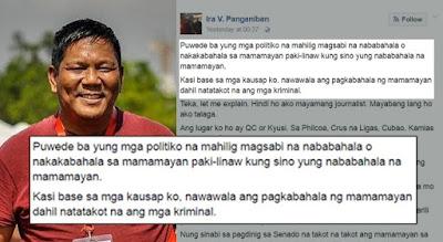 Ira Panganiban Shares The True Views Of An Ordinary Filipino On Duterte's War Against Drugs. Must Read!