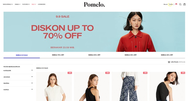 Cara Belanja dan Promo 9.9 di Pomelo Fashion - pomelofashion.com