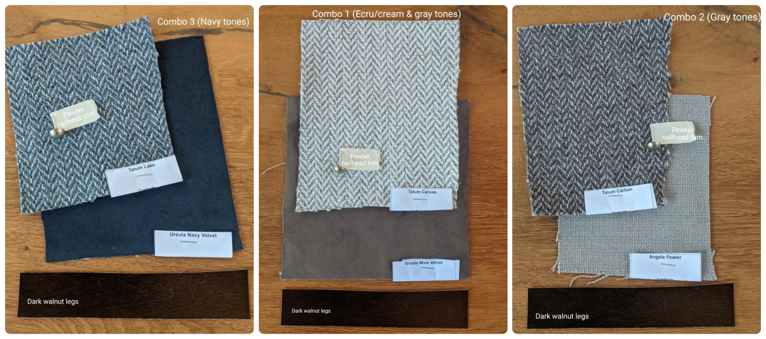 CAD Interiors Transitional Dining Room Interior Design Project blue gray brass gold wood custom virtual remote online interior e-design