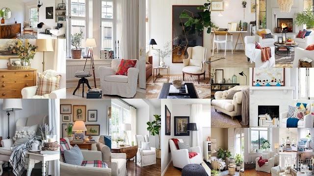 15+ Διαφορετικές διακοσμήσεις με μια λευκή πολυθρόνα