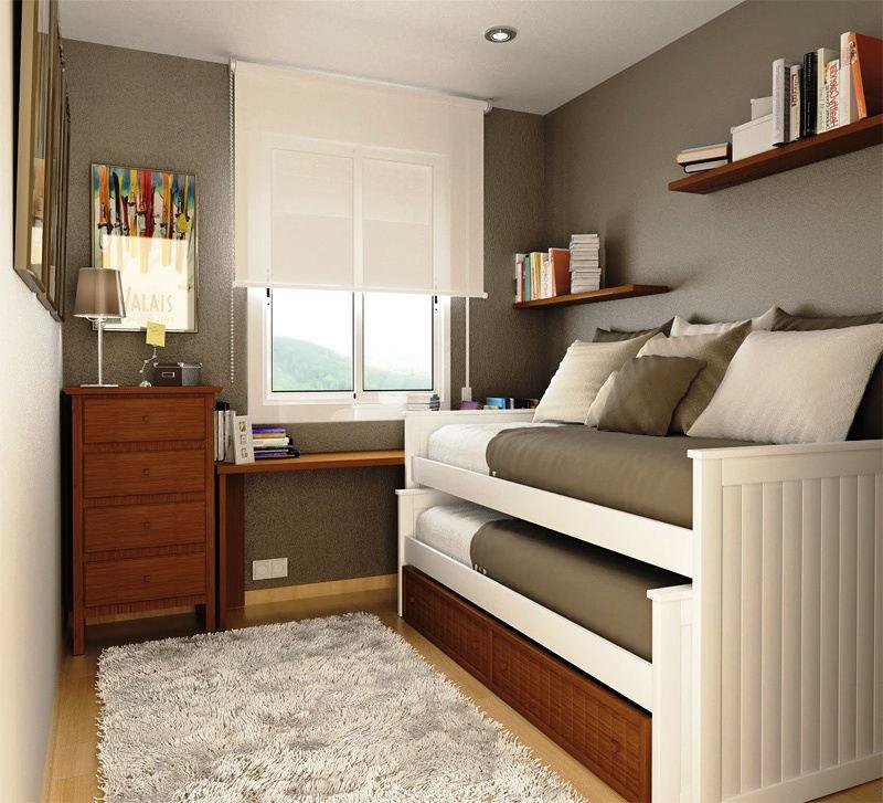 Desain Interior Kamar Tidur Minimalis 2x3 Cantik dan Elegan