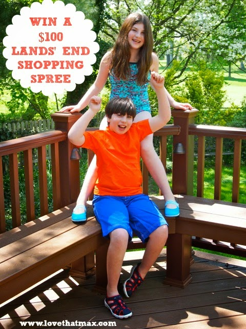 1b3592ca77 Win a $100 Lands' End shopping spree...plus, introducing supermodels Max  and Sabrina