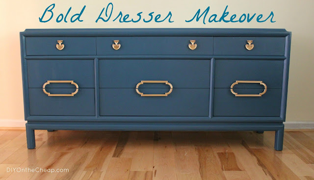 Furniture Redo Bold Dresser Makeover