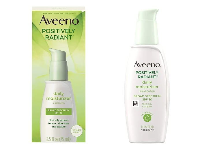 aveeno positively radiant daily moisturizer spf 30 review