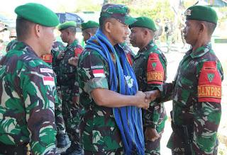 Kunjungan Panglima Kodam IX/Udayana, ke Mako Satgas Pamtas RI-RDTL Yonif 132/BS .