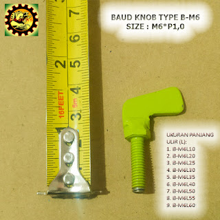 Contoh Baut Knob Plat Besi Type B-M6xP1,0