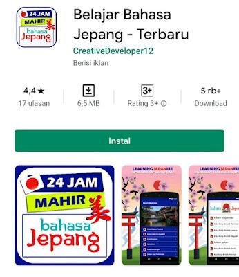 Dapatkan aplikasi pembelajaran bahasa Jepang