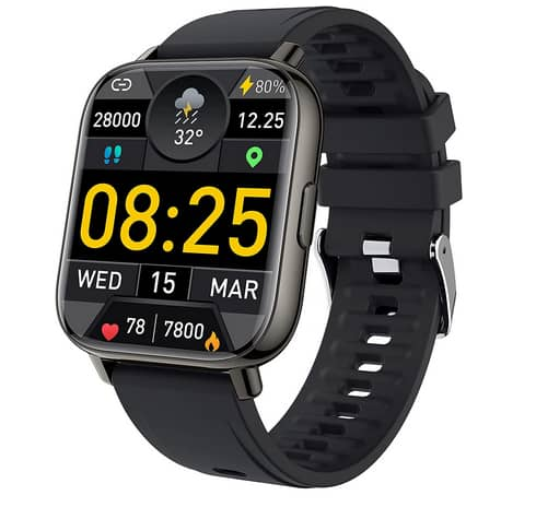 mebossco 1.69 Inch Smartwatch with Sleep Heart Rate Monitor