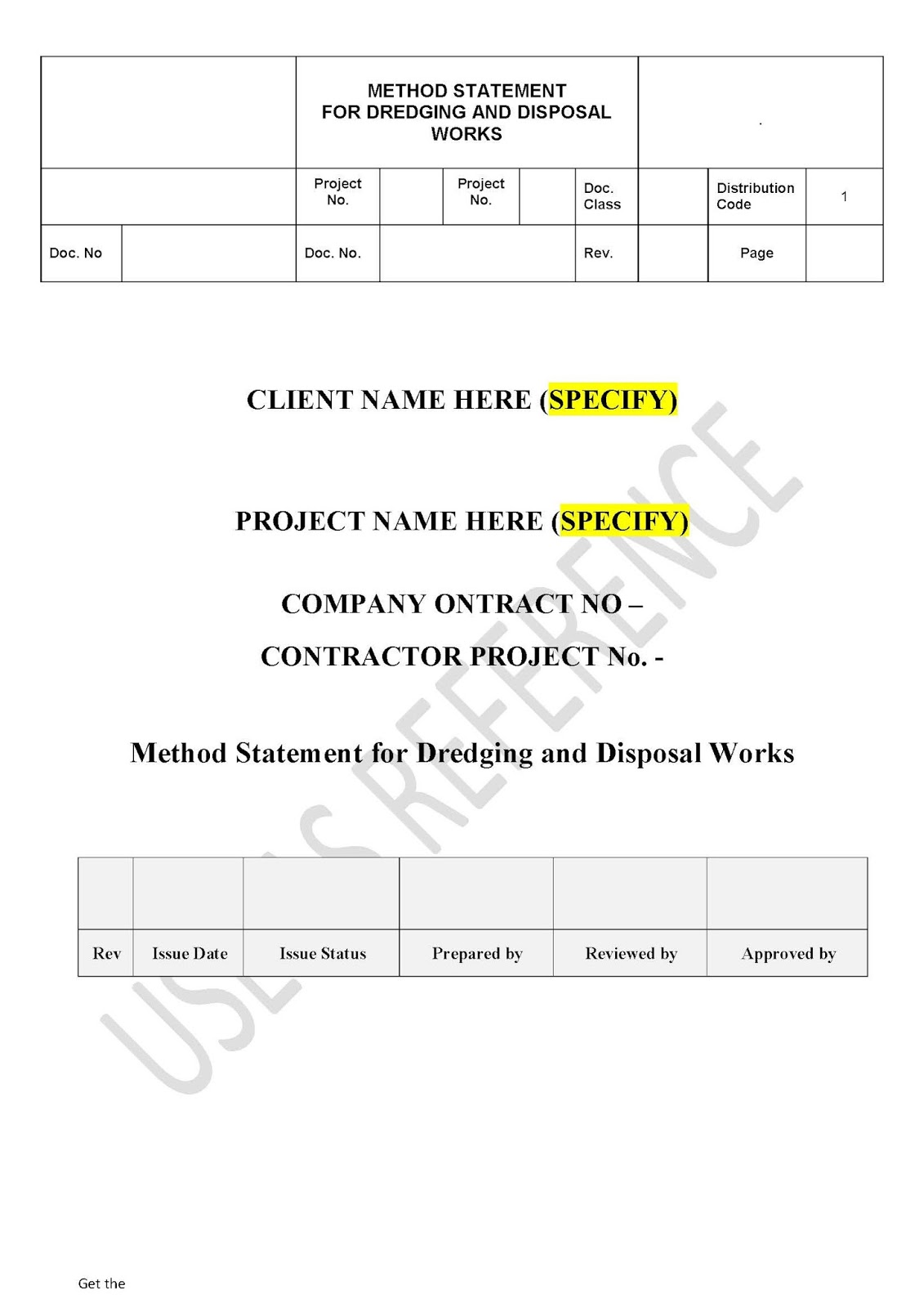 Work Method Statement Example blank invoice template doc agenda – Method Statement Template Doc