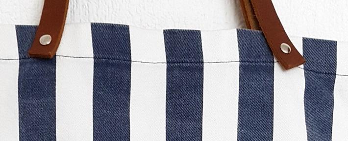 Streifenbeutel - aus Hemd und Tafelstoff - genaeht - upcycling - DIY vonkarin