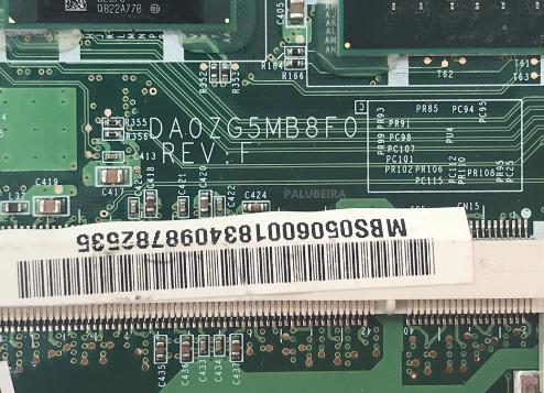 DA0ZG5MB8F0 REV F ACER AOA150 Laptop Bios