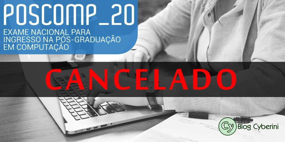 POSCOMP 2020 cancelado