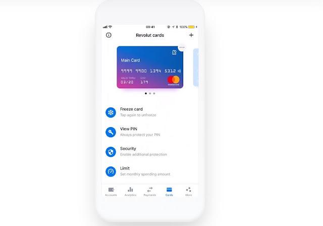 App de la tarjeta Revolut
