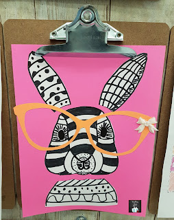Picture of Easter Pop Art @teachingisagift.blogspot.ca