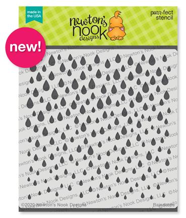Raindrops Stencil by Newton's Nook Designs