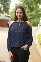 Poojita Super Cute Smile in Blue Top black Trousers at Darsakudu press meet ~ Celebrities Galleries 054.JPG