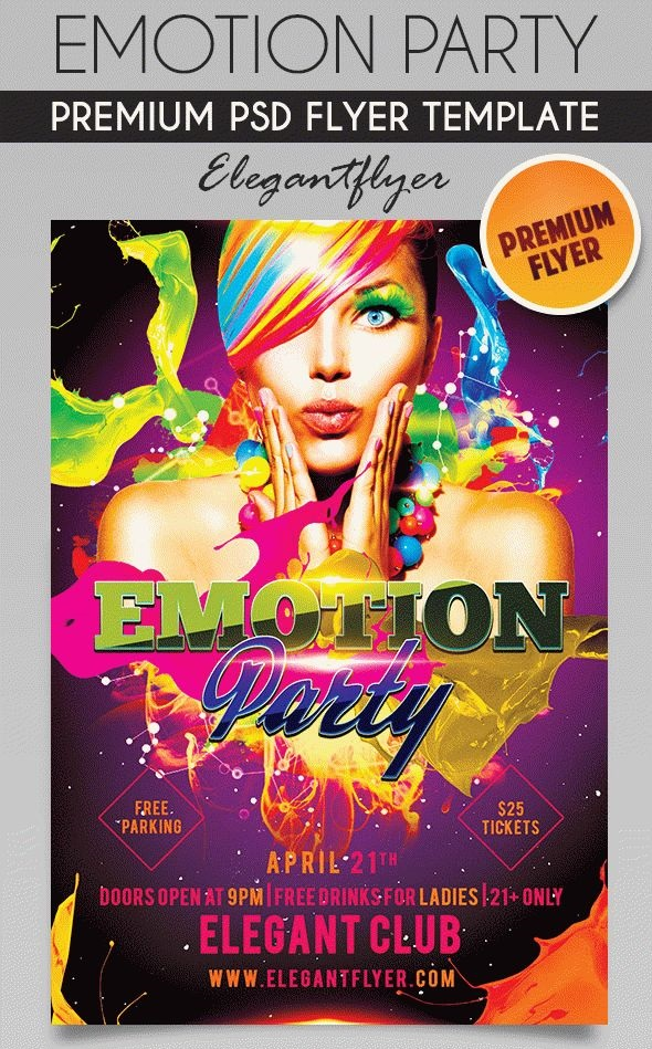 Emotion Party – Flyer PSD Template[Photoshop]