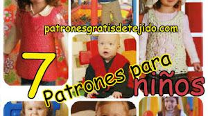 7 Patrones de Tejidos a Crochet para Niños / Moda infantil para hacer en casa