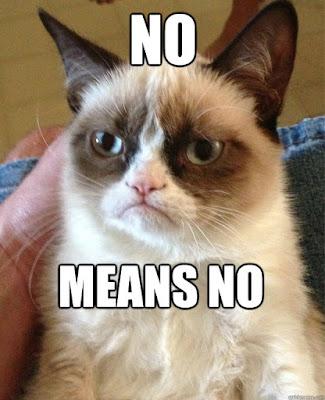 No Means No Grumpy Cat