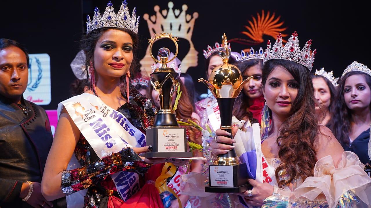 Rashika Mudgal has achieved the title of Miss India Glam 2020 and Sneha Rathore won Mrs. India Glam 2021