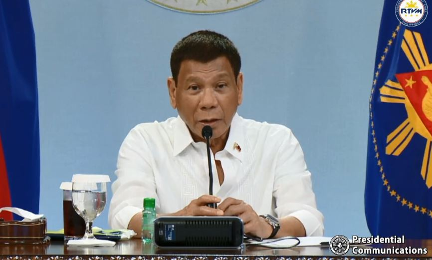 President Rodrigo Roa Duterte presides over the meeting IATF