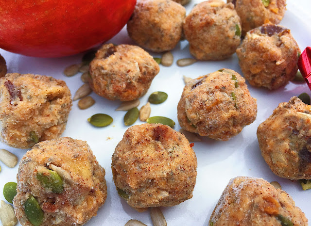 Crunchy Caramel Apple Vegan Energy Balls (Gluten Free)