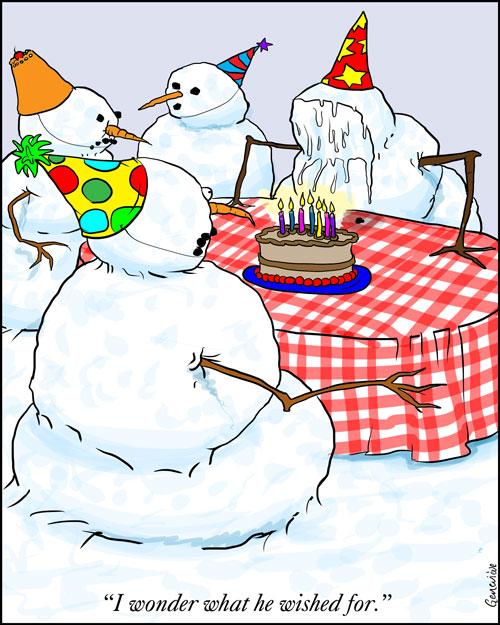 Gentoons Snowman S Birthday Wish
