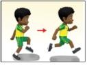 posisi latihan berlari