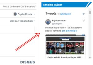 Cara Pasang Widget Timeline Twitter di Blog AMP Fajrin web Id
