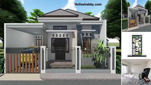 Desain Dan Denah Rumah 9 X 12 M Rumah Tropis Modern Dengan 4 Kamar Tidur Helloshabby Com Interior And Exterior Solutions
