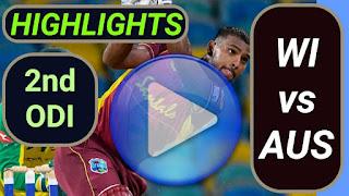 WI vs AUS 2nd ODI 2021
