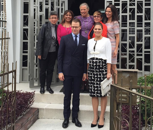 Crown Princess Victoria of Sweden and Prince Daniel of Sweden attended an informal meeting with representatives of Colombian women's organizations at the NGO 'Ruta Pacífico de las mujeres' headquarter