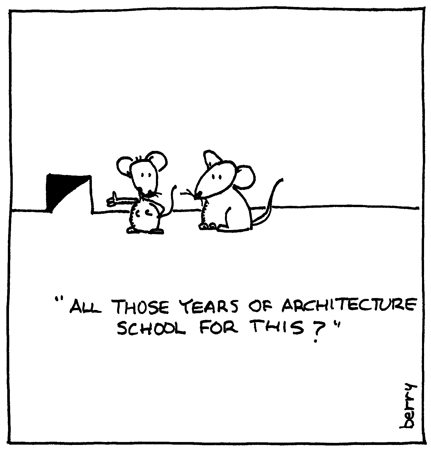 berry cartoons: architecture cartoon